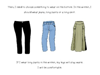 What to Wear in the Winter - social story for girls