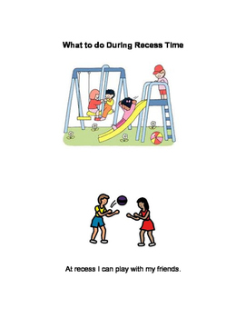 What to do During Recess Social Story and Visuals