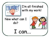 What to do when I'm finished? - primary grades