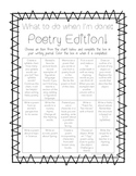 Freebie: What to do when I'm done: Poetry Edition! Journal/Poem Writing