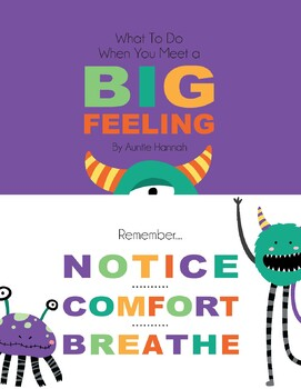 What to do when you meet a Big Feeling - Free Poster