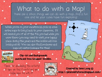 What to do with a Map!~FREEBIE!