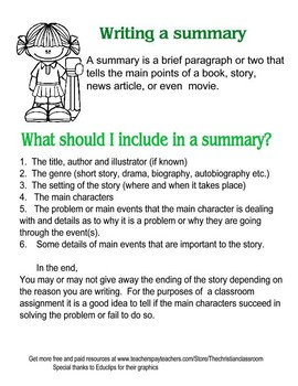 What to include when writing a summary of a short story or novel outline
