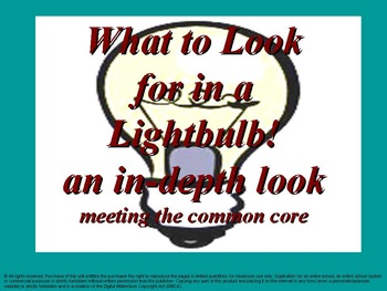 What to look for in a lightbulb: An in-depth look: meeting the common core