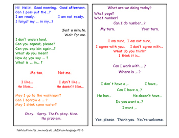 What to say in ESL class?