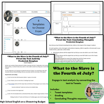 What to the Slave is the Fourth of July? Activity Bundle (Douglass) PDF