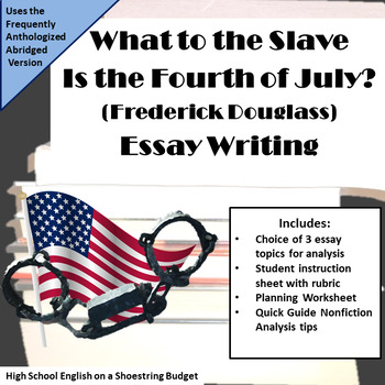 what to the slave is the fourth of july analysis