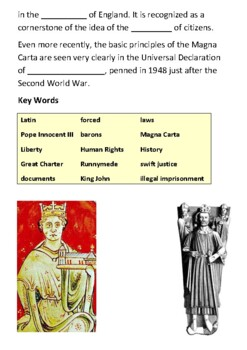 What was Magna Carta Cloze Activity