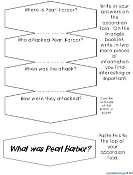 What was Pearl Harbor? interactive Notebook Sample