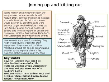 What was it like to fight in the First World War?