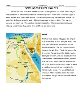 What was it like to live in the ancient river civilizations? handouts