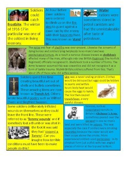 What was life like in a WWI trench? - 14 page lesson pack