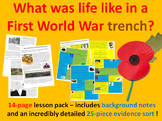 Trench warfare - 14-page full lesson (notes, evidence sort)