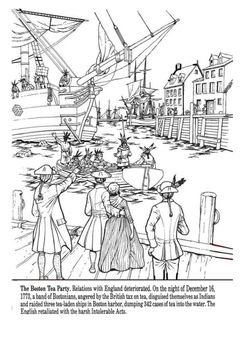 What was the Boston Tea Party Cloze Activity