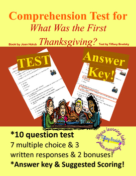 What was the First Thanksgiving? Comprehension Test