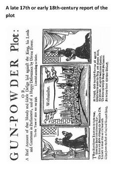 What was the Gunpowder Plot Cloze Activity