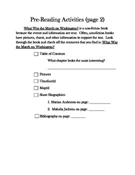 What was the March on Washington Novel Study