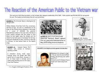 What was the reaction of the American public to the Vietna
