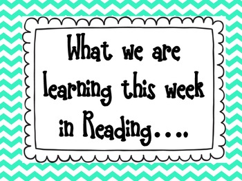 What we are learning in (subject) this week.....