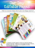 EYLF What we learned today-Editable Daily Pages
