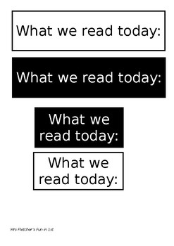 What we read today