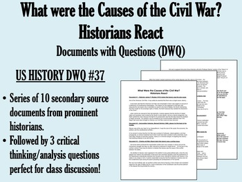 What were the Causes of the Civil War? Historians React - USH/APUSH