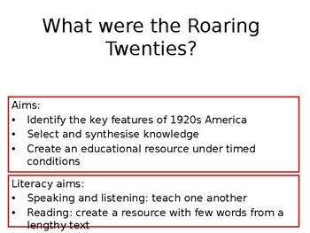 What were the Roaring Twenties?