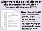 What were the Social Effects of the Industrial Revolution? - Global/World/WHAP