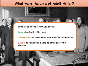 What were the aims of Adolf Hitler?
