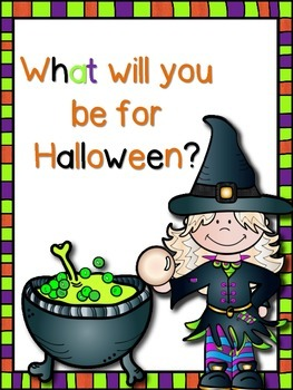 What will you be for Halloween? (booklet and/or visuals)