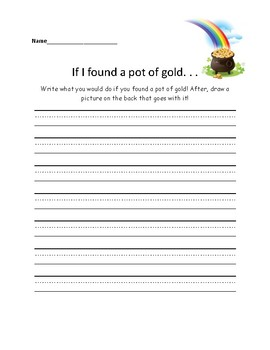 What would you do with a pot of gold?
