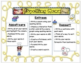 What would you like for Spelling? {A spelling menu}