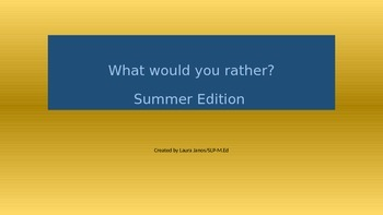 What would you rather? BEACH