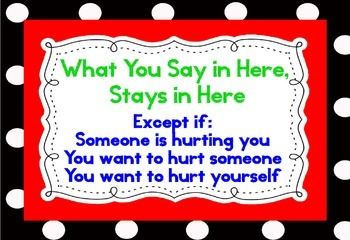 Primary Colors Polka Dot - What you say in here, stays in here poster