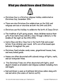 What you should know about Christmas.    Christian Holiday
