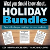 What you should know about...Holiday Edition.  Information about Major Holidays