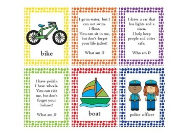 What/Who am I? Task Cards