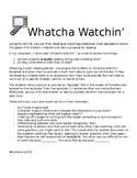 Whatcha Watchin'- Reading Response and Exit Ticket