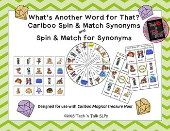 What's Another Word for That?  Spin & Match and Spin & Match Cariboo Synonyms