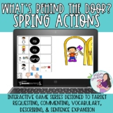 Whats Behind the Door Spring Actions for Commenting Requesting Describing