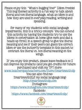 Social Skills: Idioms Spring