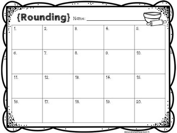 Rounding Task Cards {Rounding to the 10 and 100}