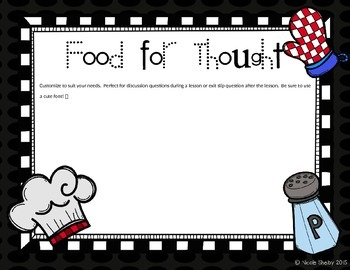 What's Cooking in Our Class? Editable PPT {Freebie}