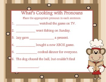 What's Cooking with Pronouns