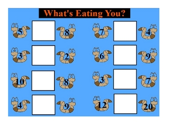 What's Eating You? Learning Center Games