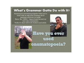 What's Grammar Got To Do With It? Snapshot Video