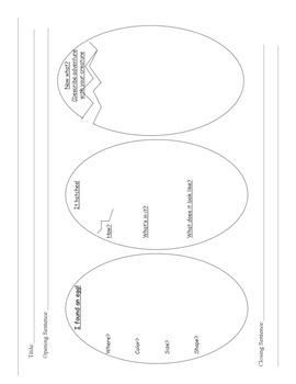 "Egg Writing Template ""What's Hatching?"""