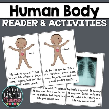 What's Inside My Body? {Reader with Pocket Chart Cards & Labels!}