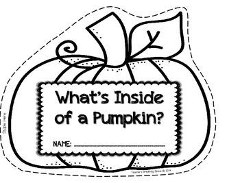 What's Inside a Pumpkin? --- Pumpkin Exploration, Shape Book and Pumpkin Writing