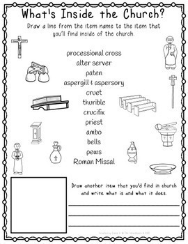 What S Inside The Church Worksheet Pack